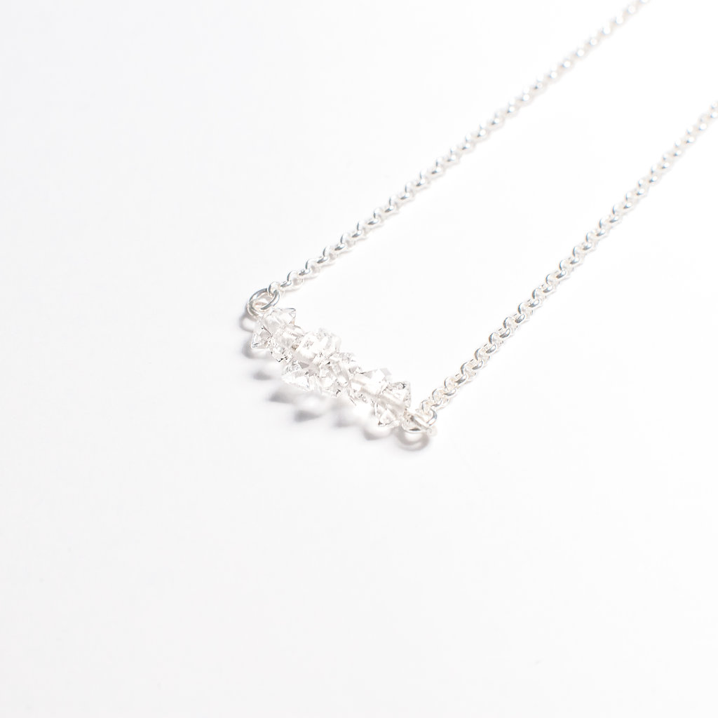 Mini herkimer necklace miriam de langley mini herkimer necklace aloadofball Gallery