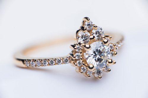 14k Yellow Gold & White Diamond Heirloom Redesign | Miriam de Langley