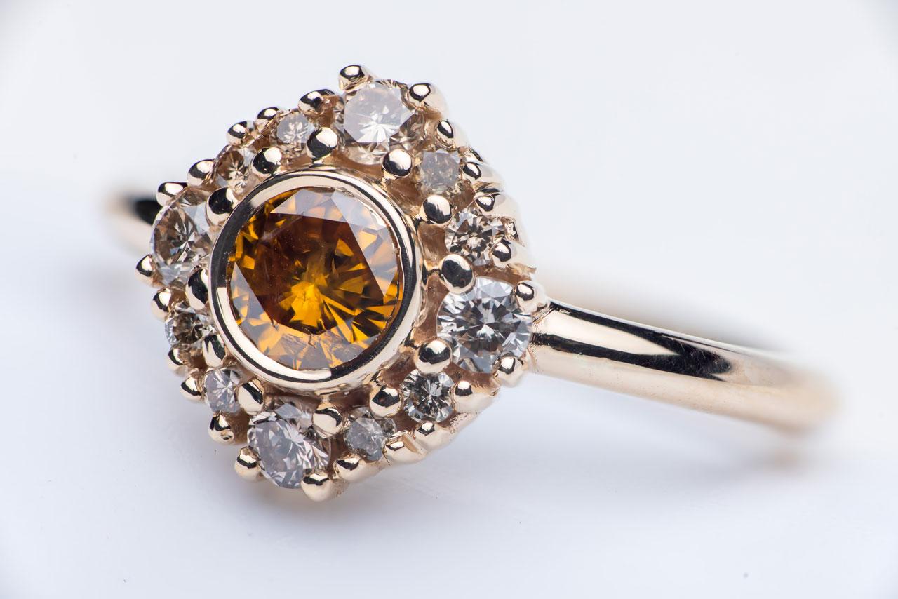 Custom Designed Engagement Ring - Miriam de Langley Jewellery