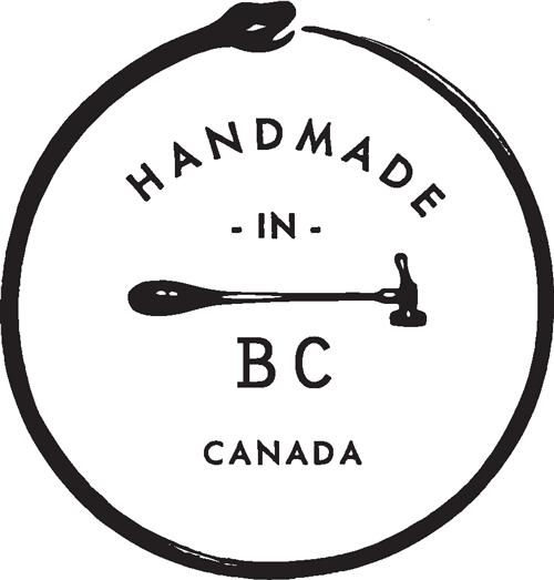 Handmade in Whistler, Canada.